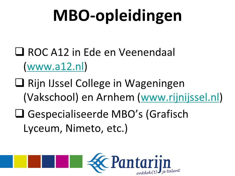 MBO-opleidingen ROC A12 in Ede en Veenendaal (www.a12.nl)