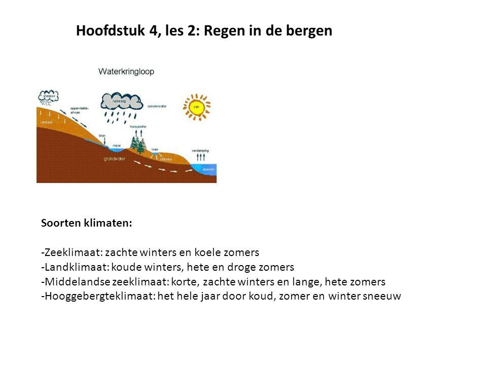 Hoofdstuk 4, les 2: Regen in de bergen