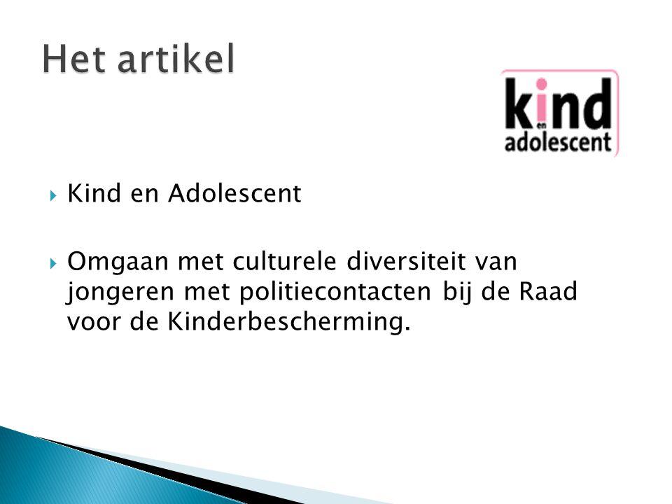 Het artikel Kind en Adolescent