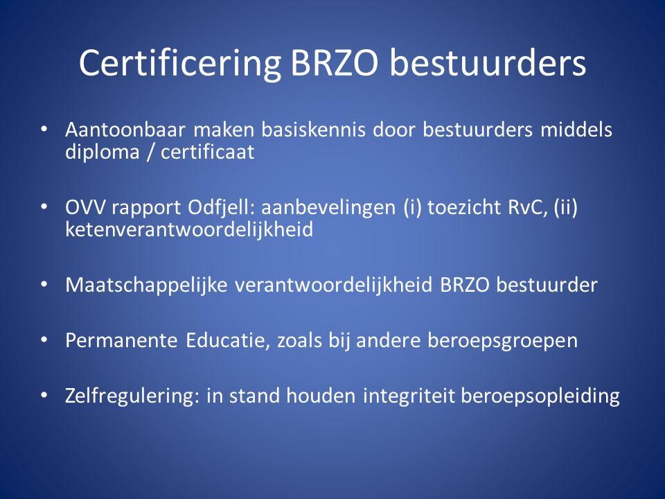 Certificering BRZO bestuurders