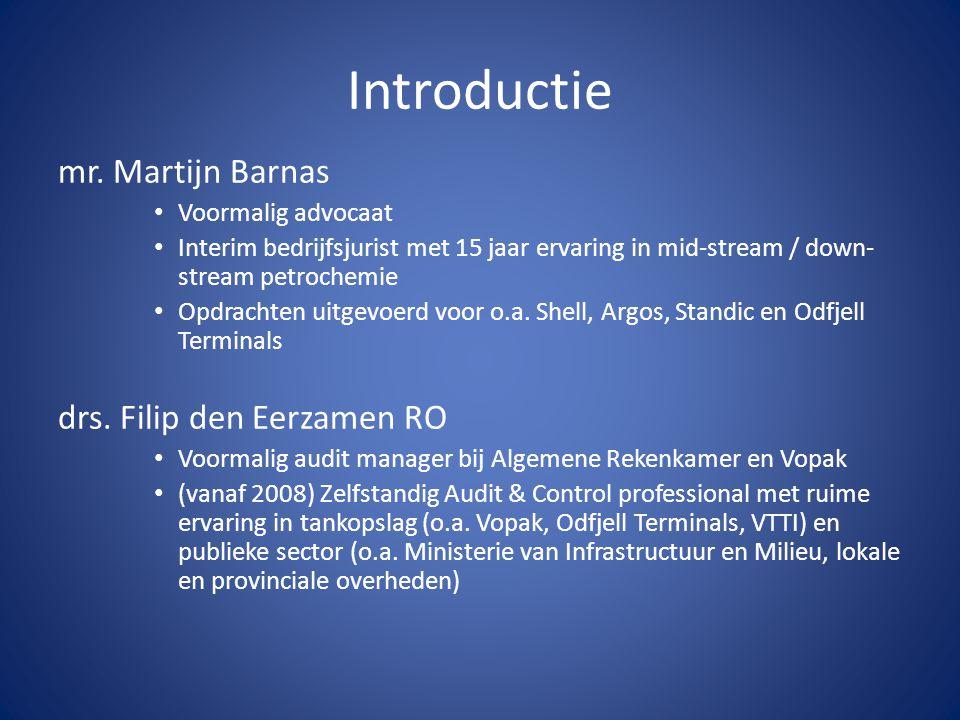 Introductie mr. Martijn Barnas drs. Filip den Eerzamen RO