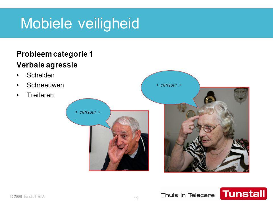 Mobiele veiligheid Probleem categorie 1 Verbale agressie Schelden