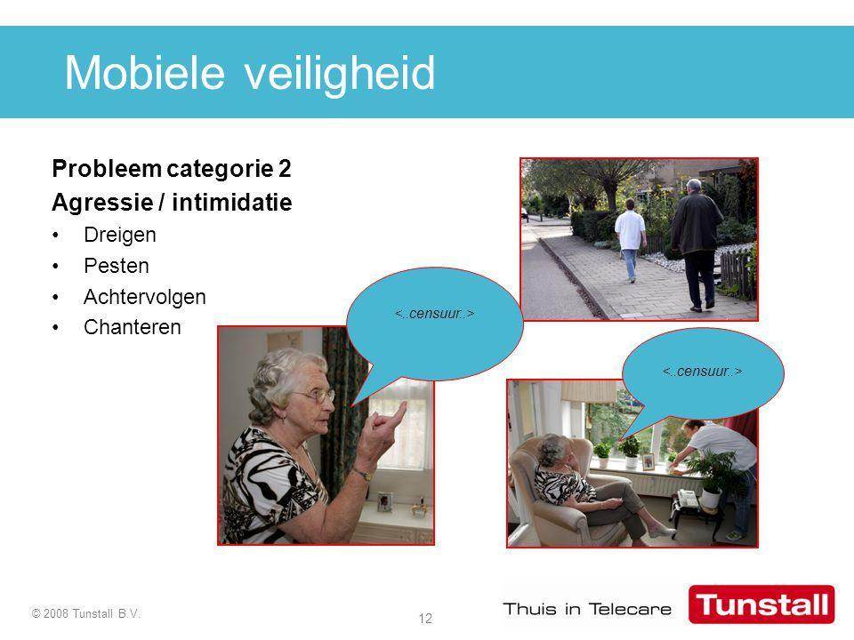 Mobiele veiligheid Probleem categorie 2 Agressie / intimidatie Dreigen