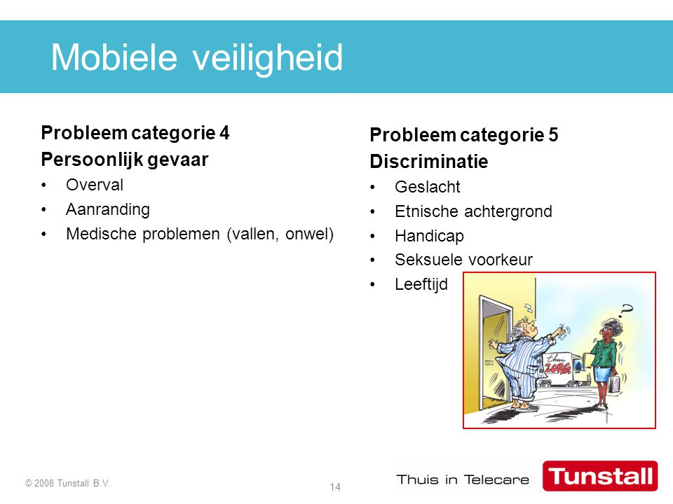 Mobiele veiligheid Probleem categorie 4 Probleem categorie 5