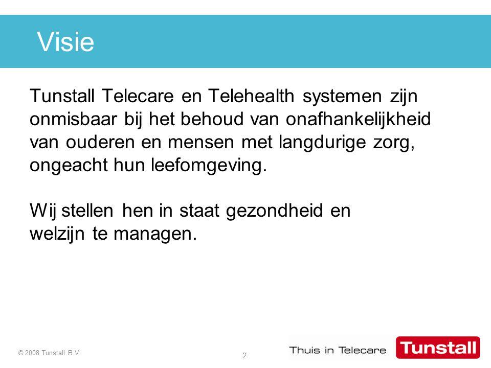Visie Tunstall Telecare en Telehealth systemen zijn