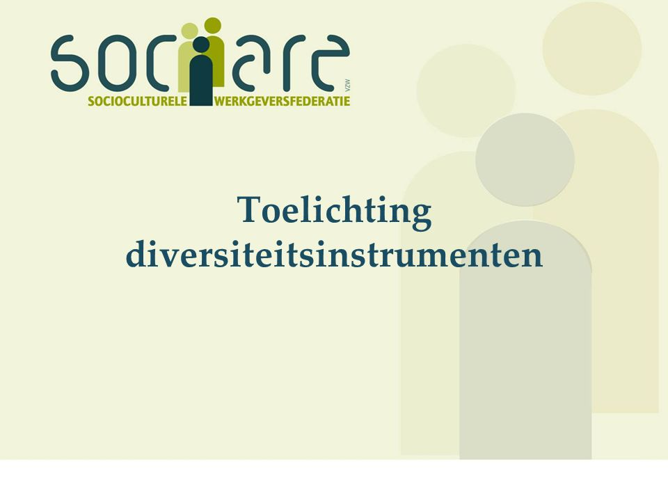 Toelichting diversiteitsinstrumenten