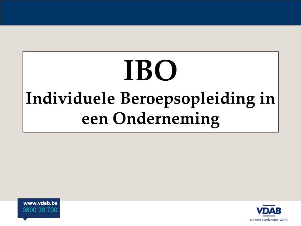 IBO Individuele Beroepsopleiding in een Onderneming