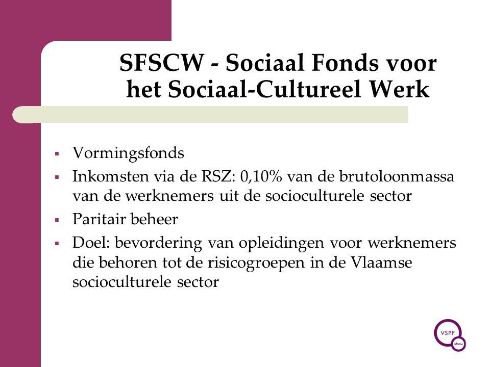 SFSCW - Sociaal Fonds voor het Sociaal-Cultureel Werk