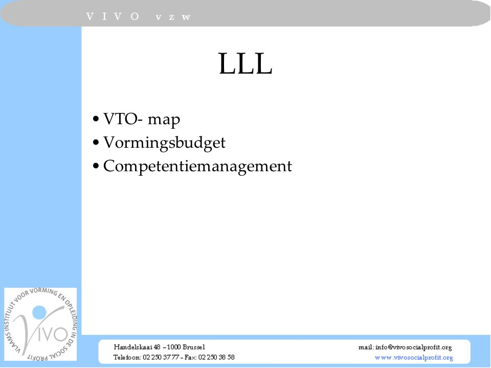LLL VTO- map Vormingsbudget Competentiemanagement