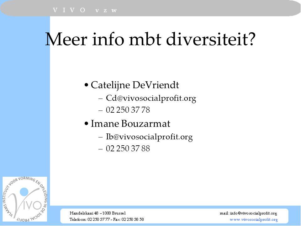 Meer info mbt diversiteit
