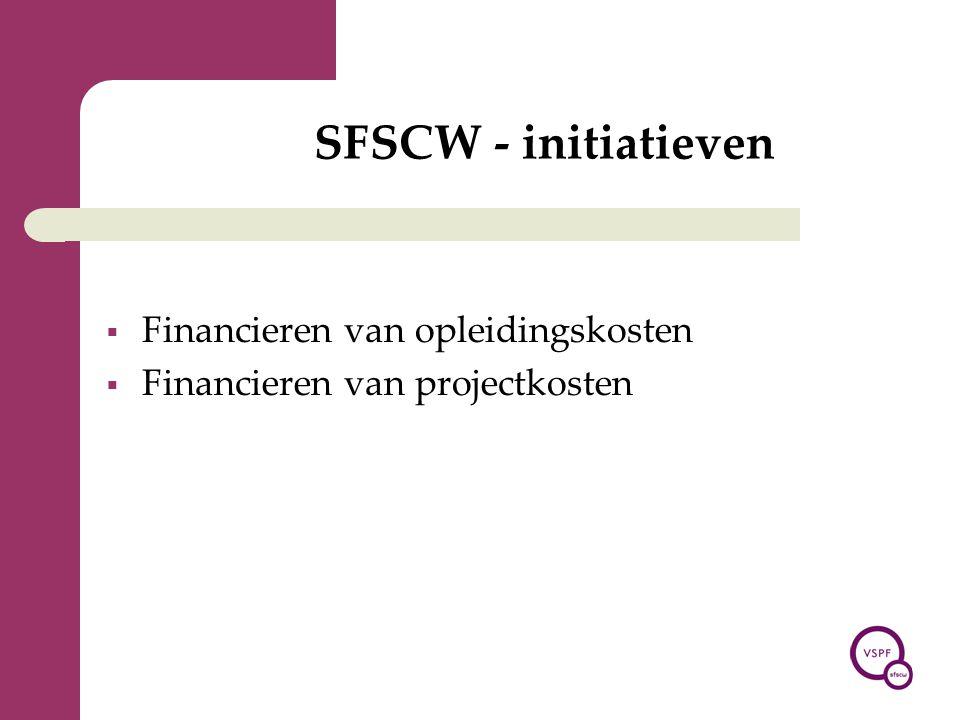 SFSCW - initiatieven Financieren van opleidingskosten