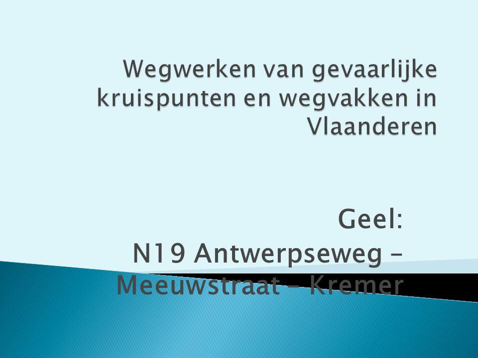 Wegwerken van gevaarlijke kruispunten en wegvakken in Vlaanderen