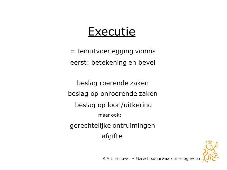 Executie = tenuitvoerlegging vonnis eerst: betekening en bevel