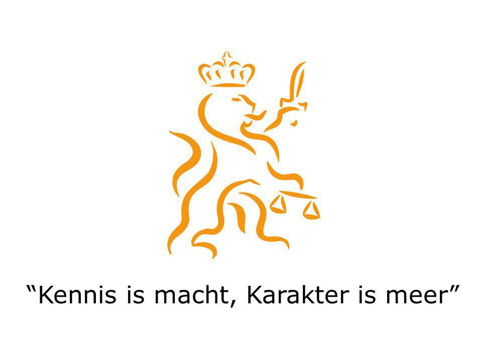 Kennis is macht, Karakter is meer