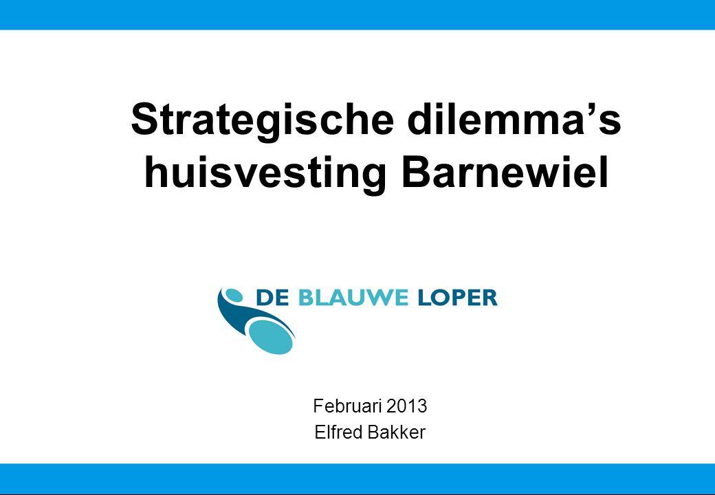 Strategische dilemma's huisvesting Barnewiel