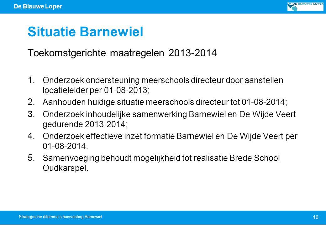 Situatie Barnewiel Toekomstgerichte maatregelen 2013-2014