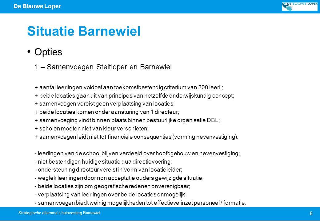 Situatie Barnewiel Opties 1 – Samenvoegen Steltloper en Barnewiel