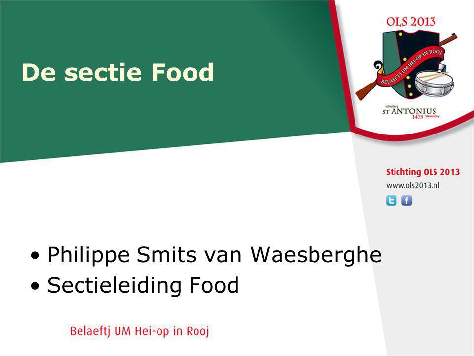 De sectie Food Philippe Smits van Waesberghe Sectieleiding Food