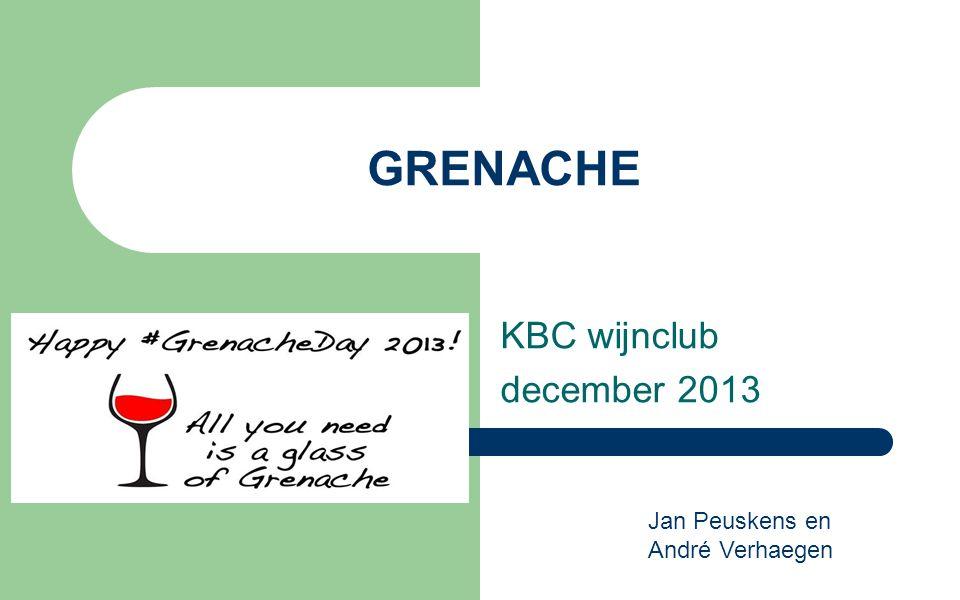 GRENACHE KBC wijnclub december 2013 Jan Peuskens en André Verhaegen