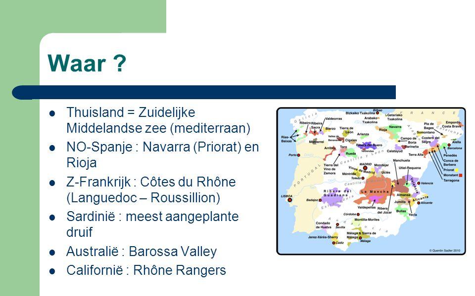 Waar Thuisland = Zuidelijke Middelandse zee (mediterraan)