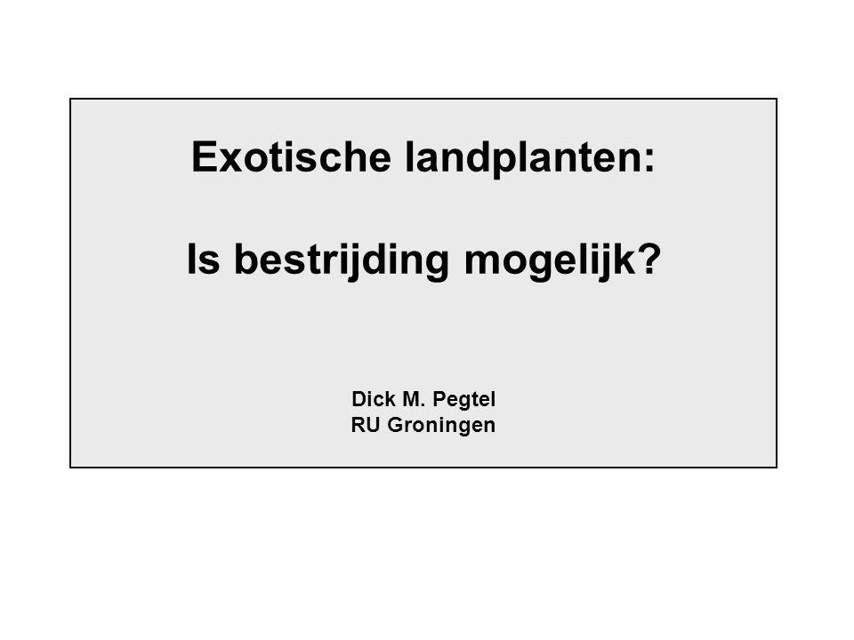 Exotische landplanten: Is bestrijding mogelijk