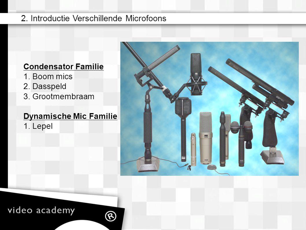 2. Introductie Verschillende Microfoons