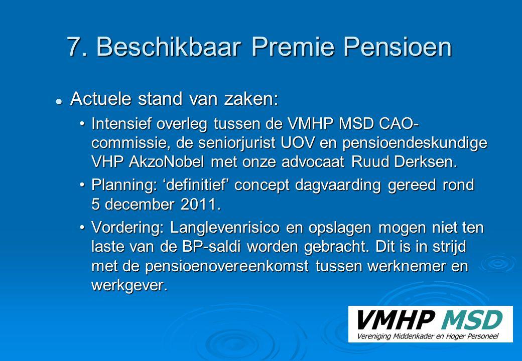 7. Beschikbaar Premie Pensioen