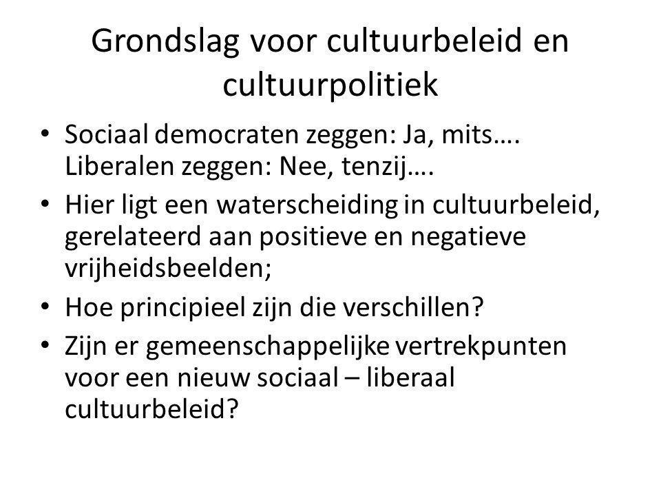 Grondslag voor cultuurbeleid en cultuurpolitiek