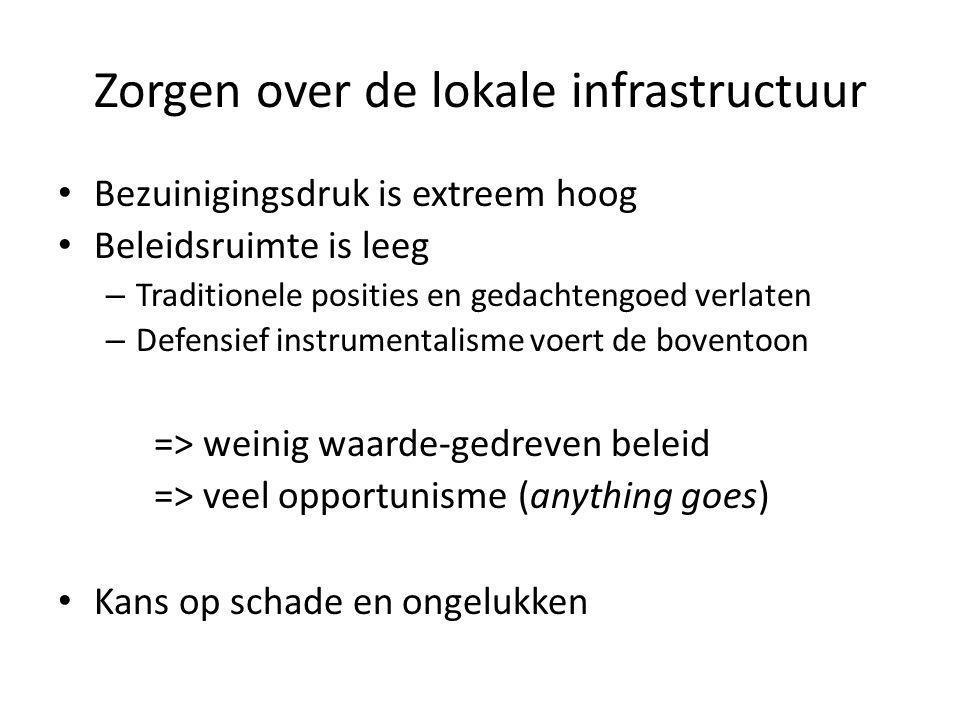 Zorgen over de lokale infrastructuur