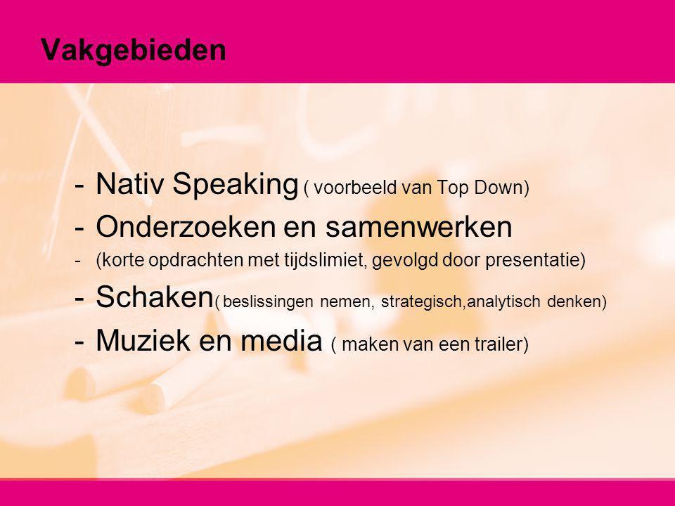 Nativ Speaking ( voorbeeld van Top Down) Onderzoeken en samenwerken