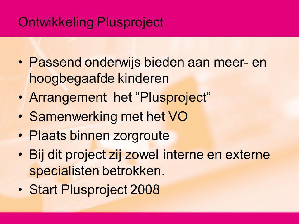 Ontwikkeling Plusproject