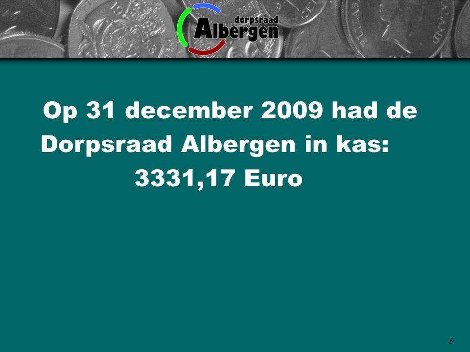 Dorpsraad Albergen in kas: 3331,17 Euro