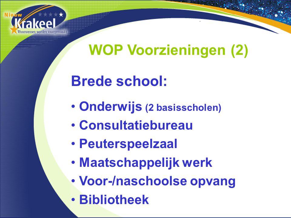 WOP Voorzieningen (2) Brede school: Onderwijs (2 basisscholen)