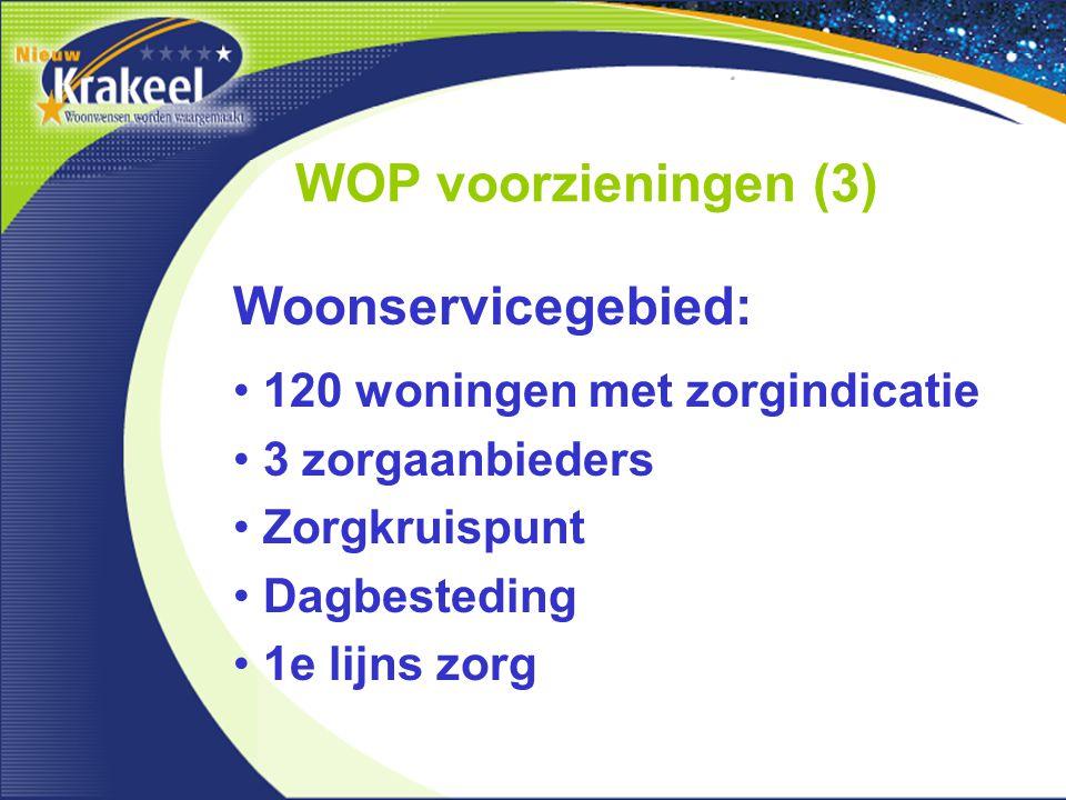 WOP voorzieningen (3) Woonservicegebied: