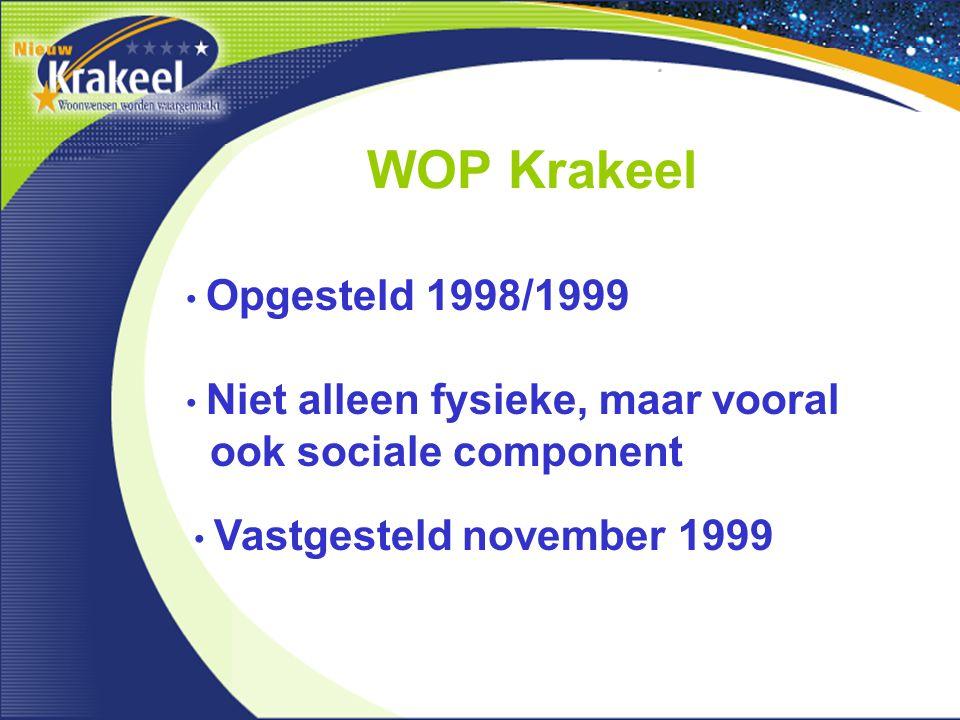 WOP Krakeel ook sociale component Opgesteld 1998/1999