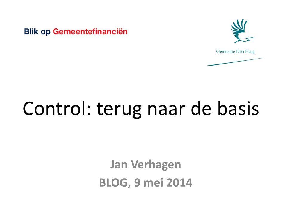 Control: terug naar de basis