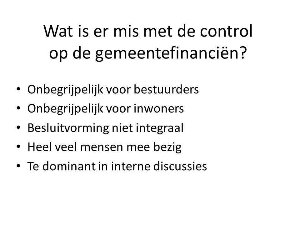 Wat is er mis met de control op de gemeentefinanciën