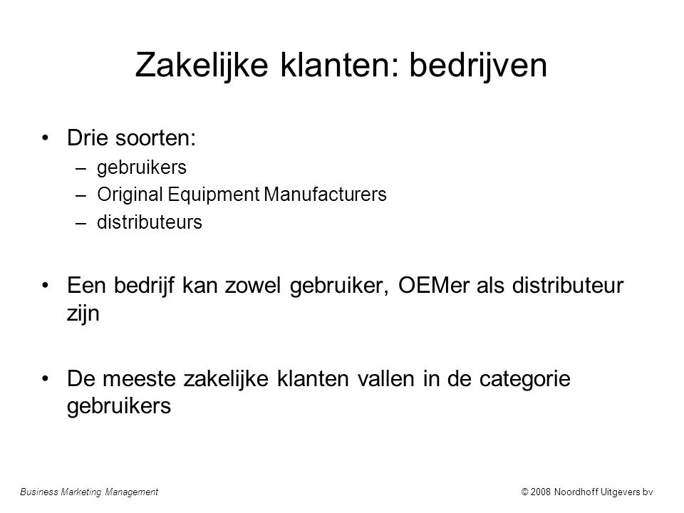 Zakelijke klanten: bedrijven
