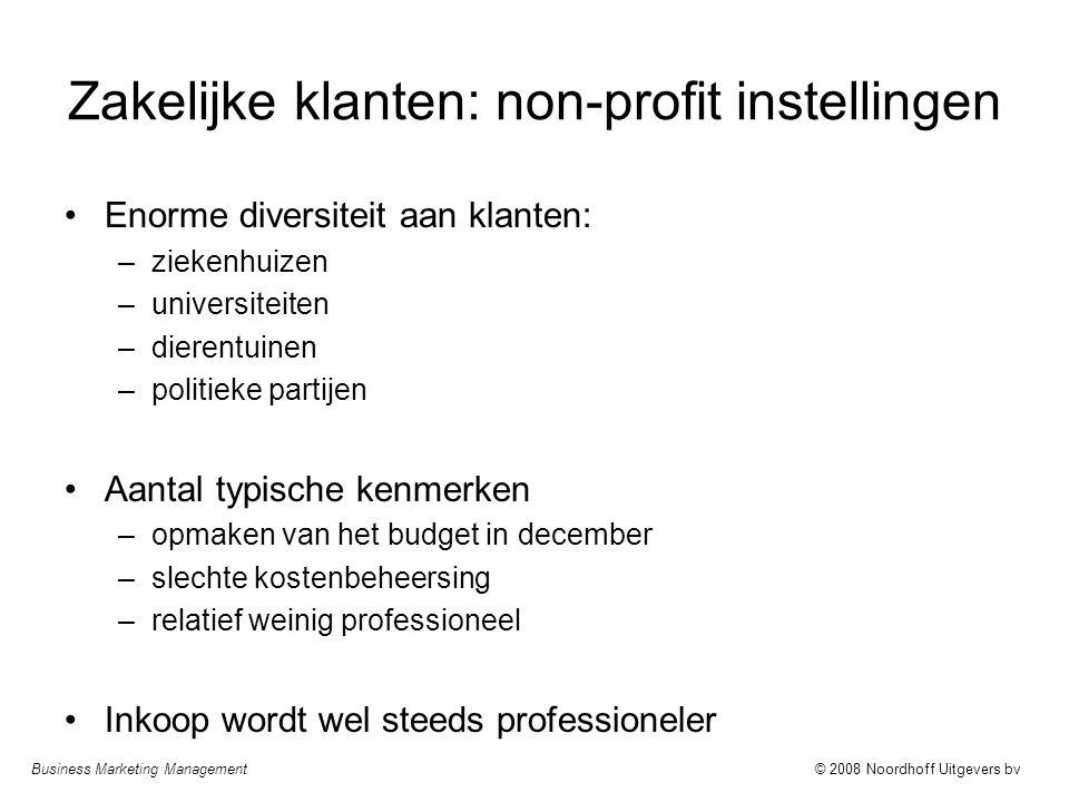 Zakelijke klanten: non-profit instellingen