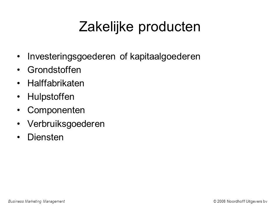 Zakelijke producten Investeringsgoederen of kapitaalgoederen