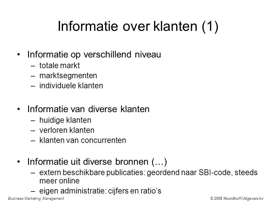 Informatie over klanten (1)