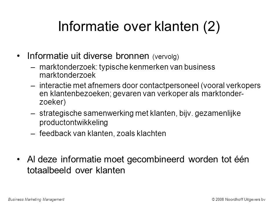 Informatie over klanten (2)