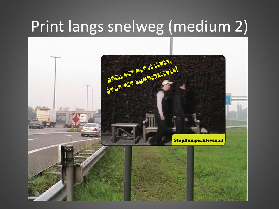 Print langs snelweg (medium 2)