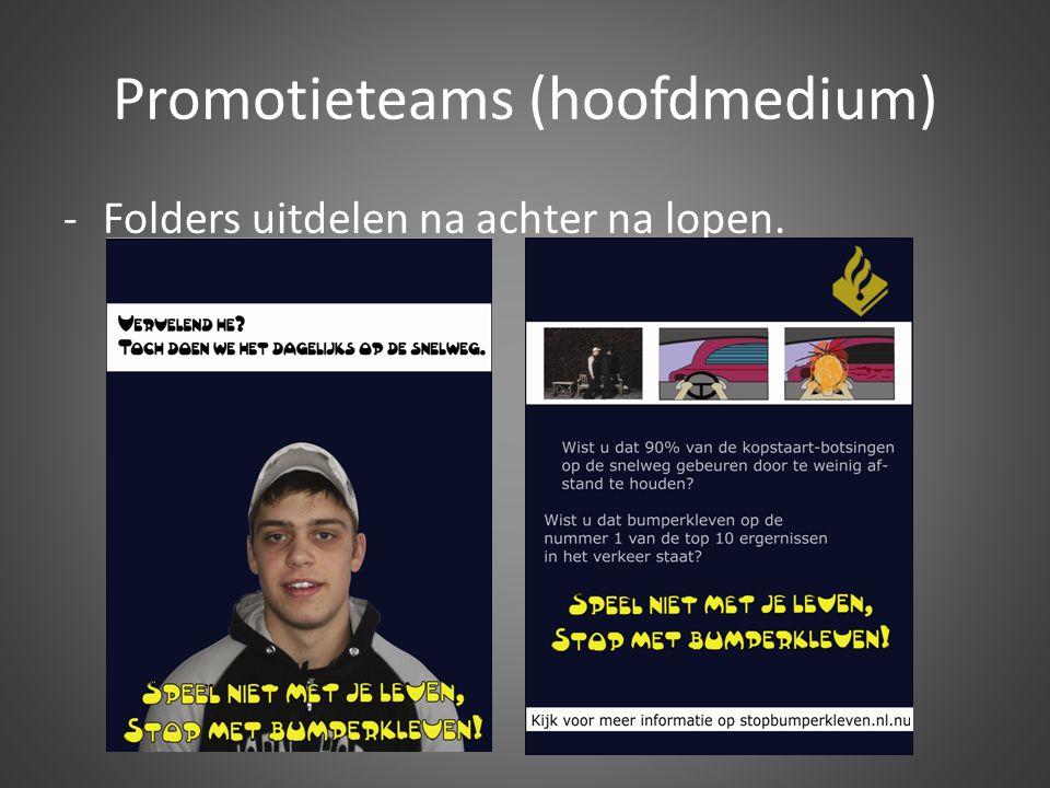Promotieteams (hoofdmedium)