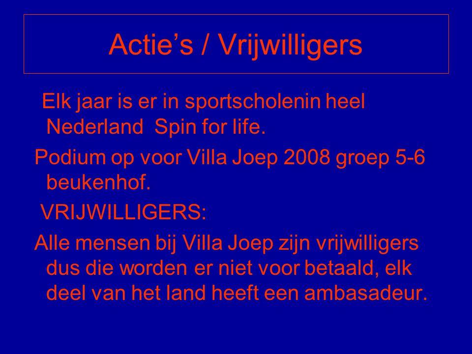Actie's / Vrijwilligers