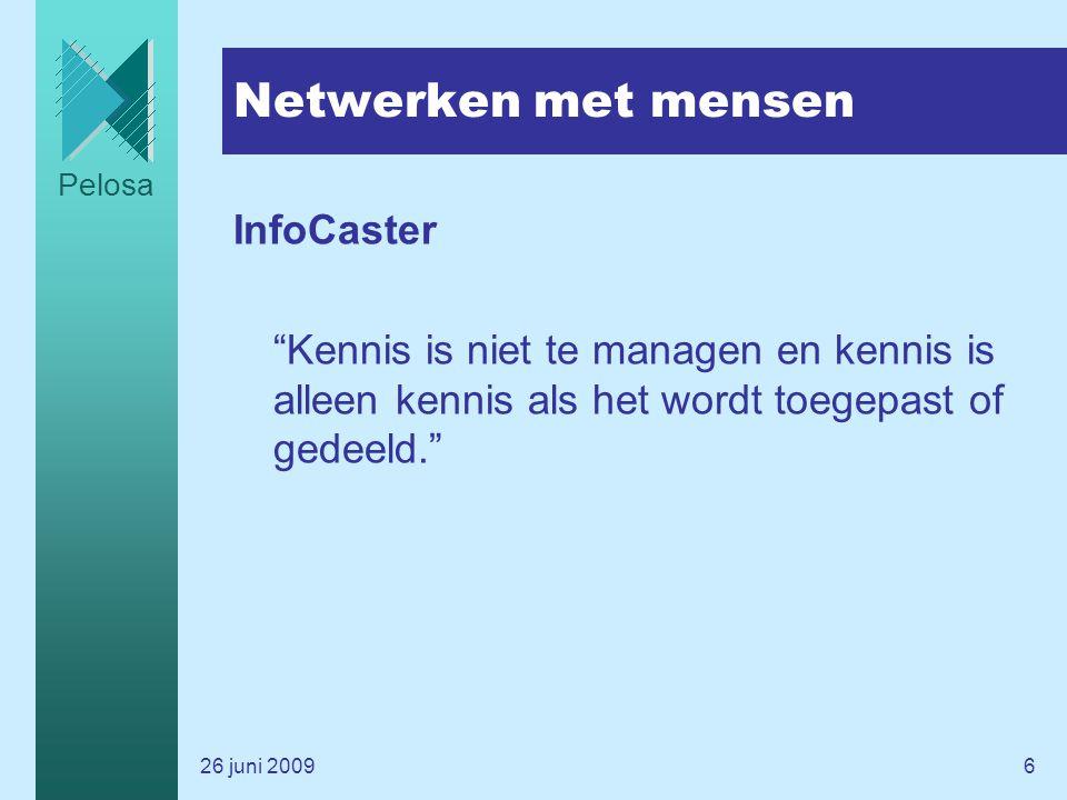 Netwerken met mensen InfoCaster