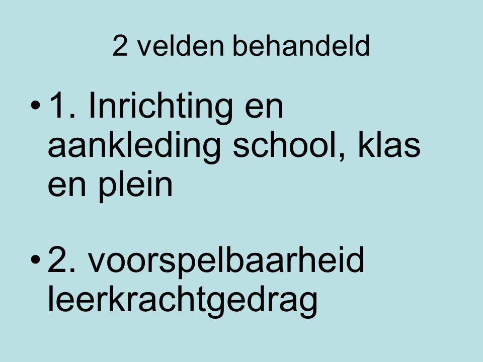 1. Inrichting en aankleding school, klas en plein