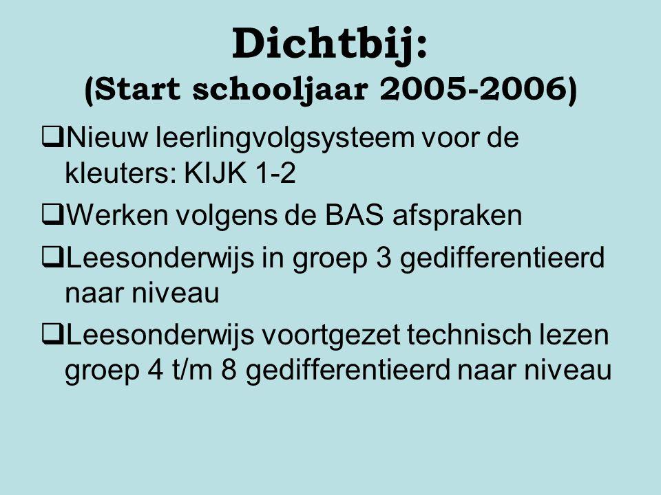 Dichtbij: (Start schooljaar 2005-2006)