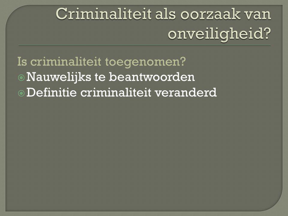 Criminaliteit als oorzaak van onveiligheid