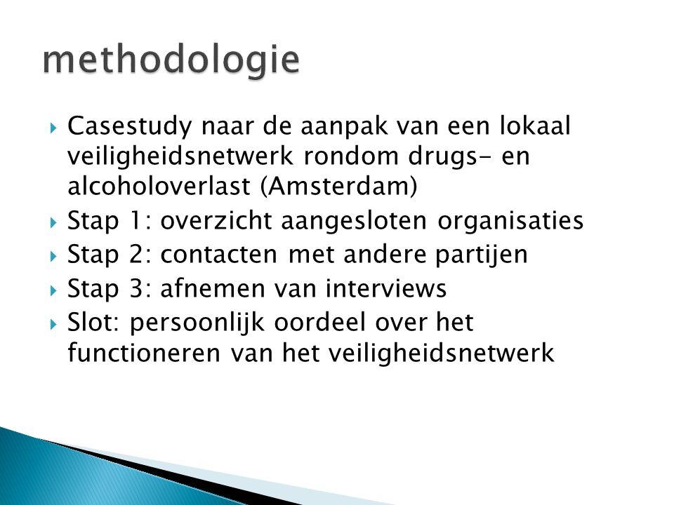 methodologie Casestudy naar de aanpak van een lokaal veiligheidsnetwerk rondom drugs- en alcoholoverlast (Amsterdam)